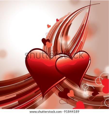 Valentines Background. Vector Design. - stock vector