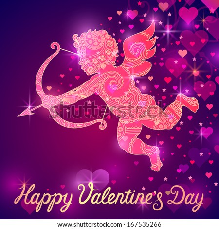 valentines  card - stock vector