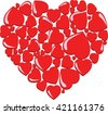 Valentines composition heart of the hearts. Love with heart. - stock vector