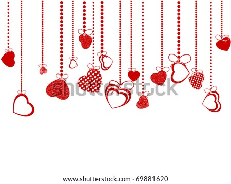 Valentines Day Background. EPS 8 vector file included - stock vector