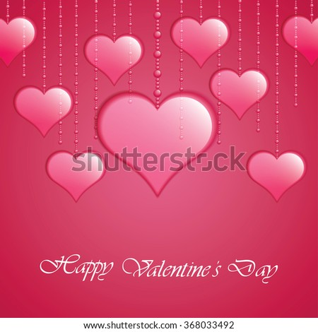 Valentines Day background.Vector illustration