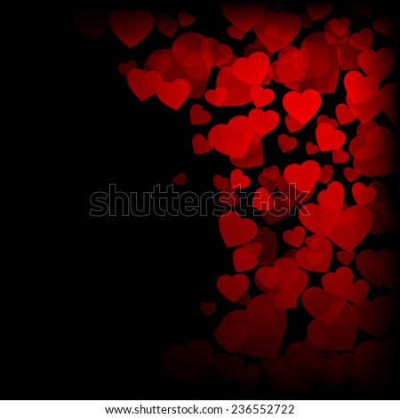 Valentines day background with hearts - stock vector
