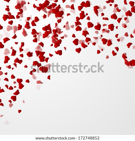 Valentines day background with hearts. Vector illustration