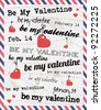 Valentines Day Background with Various Typography Style - stock vector