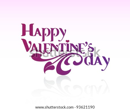 Valentines Day Card. Editable Vector. - stock vector