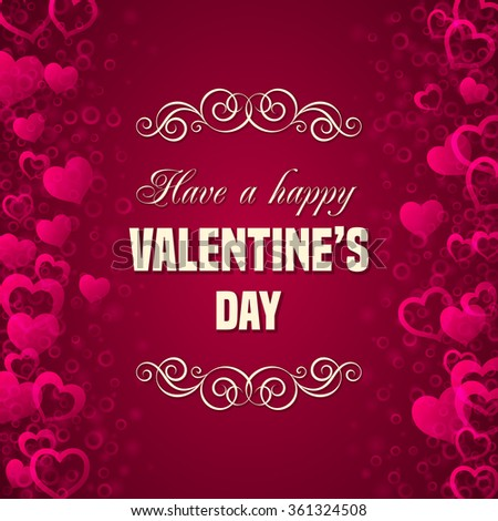 valentines day card template have happy stock vector 361324508, Ideas