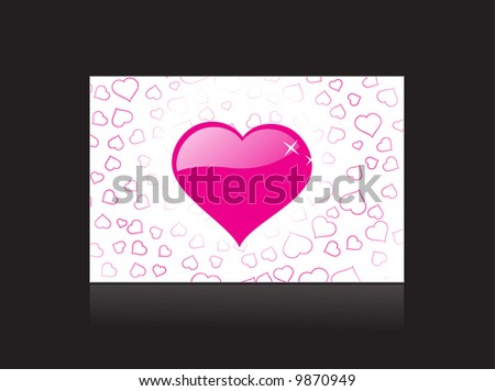 valentines day card vector illustration - stock vector