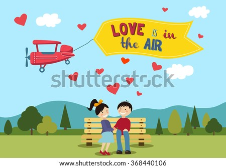 Valentines Day Couple . Love Concept - Valentines Day - stock vector