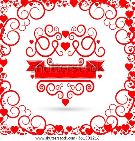 Valentines Day Flyer . Valentines Day Brochure . Valentines Day Cover . Valentines Day Invitation Card Design . Valentines Day Background . Valentines Day Pattern . Valentines Day Background . - stock vector