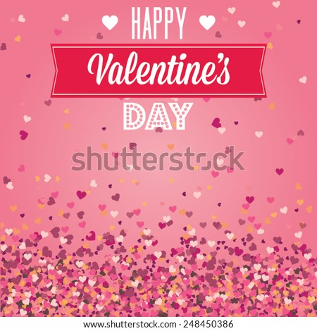 Valentines Day greeting card cover background - stock vector