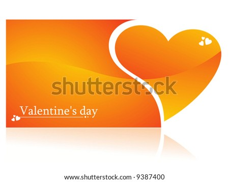 Valentines Day Heart element for design, vector illustration - stock vector