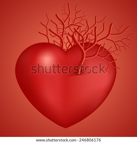 Valentines Day Heart symbol with vascular vector eps 10 - stock vector