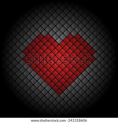 Valentines Day heart tile background - stock vector