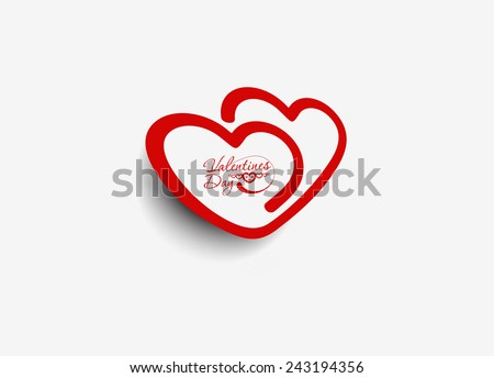 Valentines day heart. Vector illustration. - stock vector