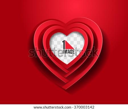 Valentines day heart. Vector illustration. - stock vector
