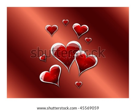 Valentines Day hearts in Vector - stock vector