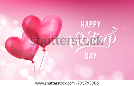 Valentines Day Calligraphy Lettering Text On Stock Vector ...