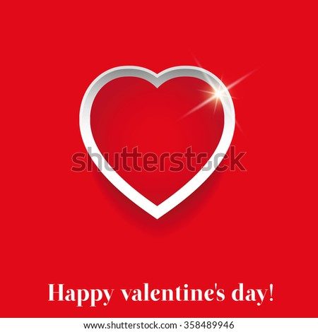 Valentines day red heart vector - stock vector