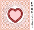 Valentines Day retro background - stock vector