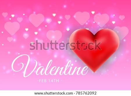 Happy Valentines Day Background Design Wallpaper Stock Vector ...