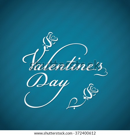 Valentines day script lettering background in eps10 format - stock vector