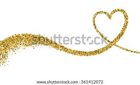 Valentines Day Vector Background With Sparkles and Glitters. Holiday Design. - stock vector