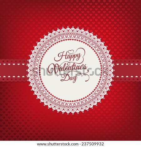 Valentines day vintage card. EPS 10 vector file included - stock vector