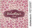 Valentines Day Vintage Template Background - stock vector