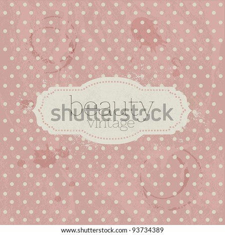 Valentines Day Vintage Template Background