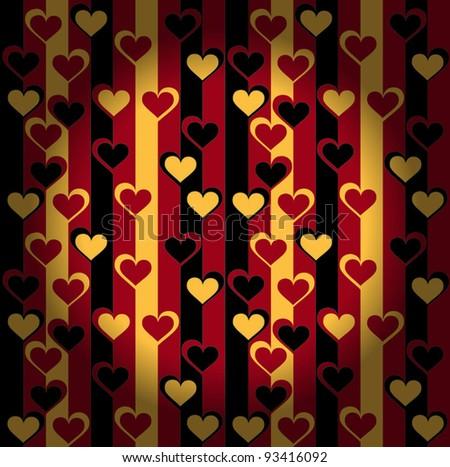 valentines day wallpaper - stock vector