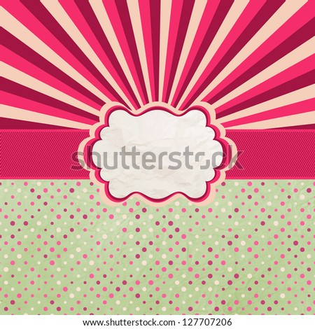 Valentines Design Template. And also includes EPS 8 vector - stock vector