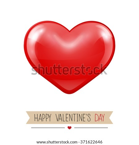 Valentines greeting card.Vector illustration - stock vector
