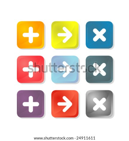 Validation icons - stock vector