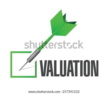 valuation check dart illustration design over a white background - stock vector