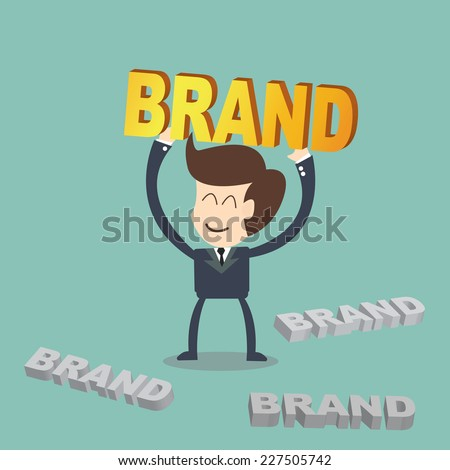 Value creation Brand - business concept - stock vector