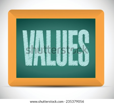 values board sign illustration design over a white background - stock vector