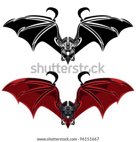 Vampire Bat - stock vector