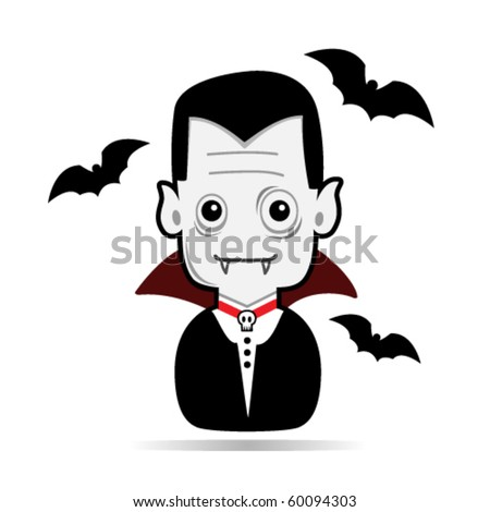 Vampire dracula illustration - stock vector