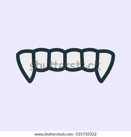 Vampire teeth stock images royalty free images vectors for Vampire teeth pumpkin stencils