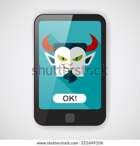 Vampire flat icon with long shadow, eps10 - stock vector