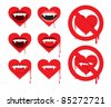 vampire heart - stock vector