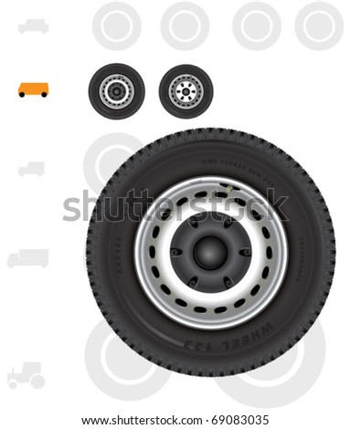 Van and light truck wheels.