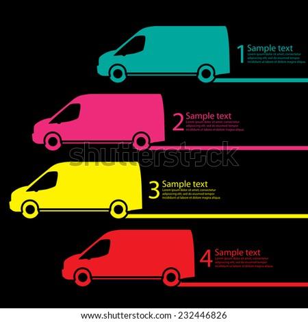 Van delivery - stock vector