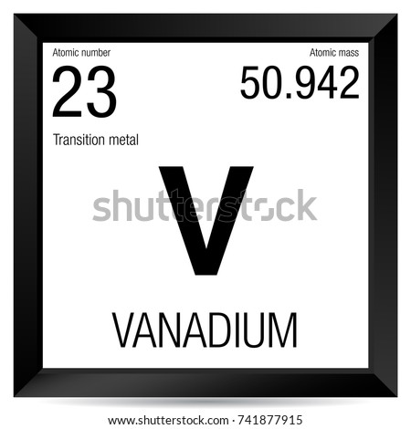 Vanadium symbol element number 23 periodic stock vector royalty vanadium symbol element number 23 of the periodic table of the elements chemistry urtaz Choice Image
