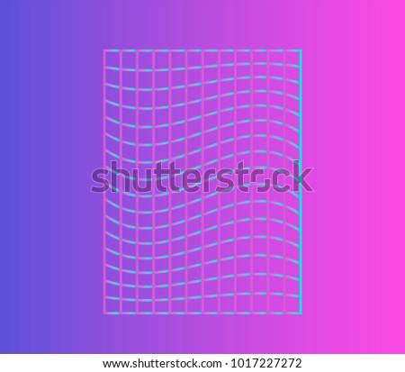 Vaporwave pastel palette ultra minimal vector stock vector for Minimal art neon