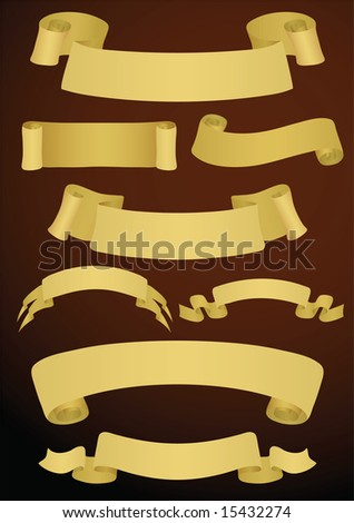 Variants of eight banners. Vector illustration