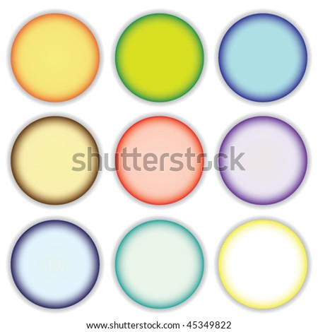 Varicolored buttons.