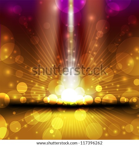 varicoloured christmas background with glare and bright light