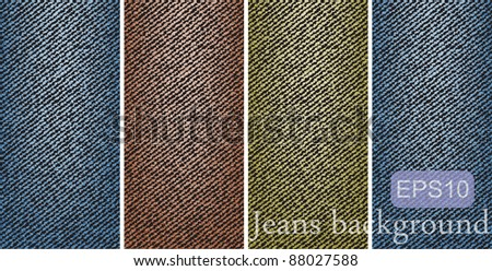 variegated jeans background - stock vector