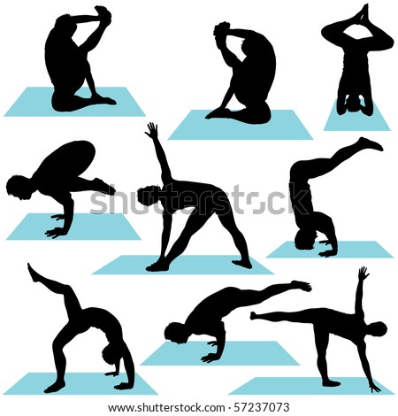 stock images similar to id 75475975  yoga poses symbols